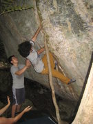 Rock Climbing Photo: A. Aldama climbing a recently discovered crack in ...