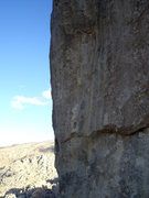 Rock Climbing Photo: Not the best photo, but the route follows the face...