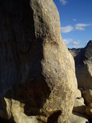 Rock Climbing Photo: This is the area of the wall with the bulge that c...