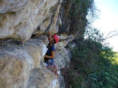 Rock Climbing Photo: C. Hartman climbing on the walls of La Ceiba.