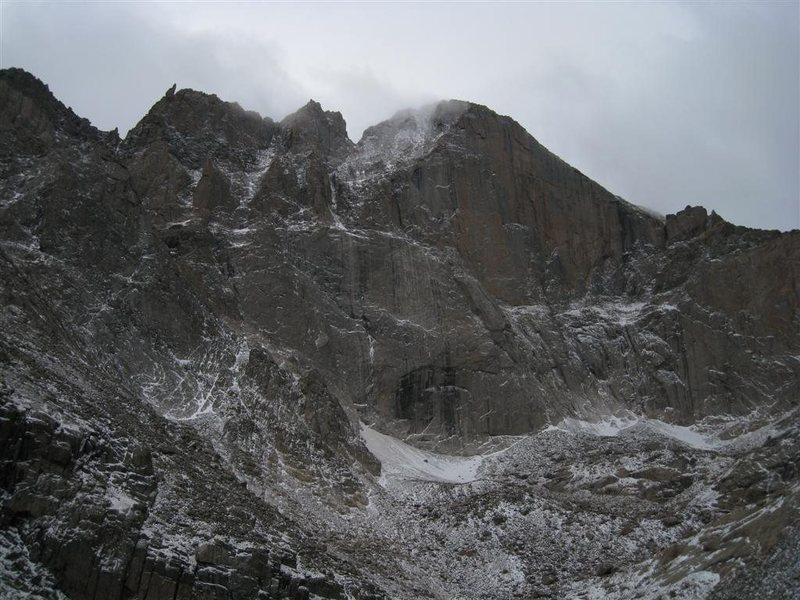 Rock Climbing Photo: Longs East face