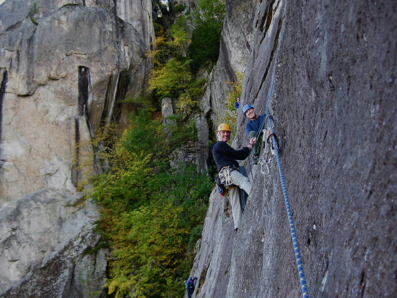 Rock Climbing Photo: Chris Graham and Bob Ahearn glad to be through the...