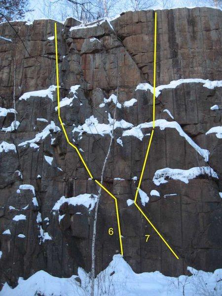 Rock Climbing Photo: Route 5 ramp heading left