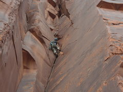 Rock Climbing Photo: KG topping out on Ladies first