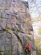 Rock Climbing Photo: Route7 starts at base of Too Much Sax