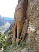Rock Climbing Photo: Chris Breed belaying Adam Sinner on the first pitc...