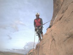 Rock Climbing Photo: On the Belay of P1