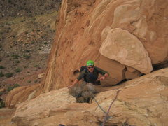 Rock Climbing Photo: Pat topping out P2