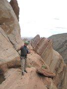 Rock Climbing Photo: Happy Pat on the summit ridge.