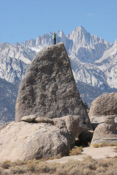 Another angle of The Shark Fin with Mt. Whitney in back