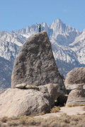 Rock Climbing Photo: Another angle of The Shark Fin with Mt. Whitney in...