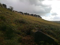 Rock Climbing Photo: Looking at Stanage from the forest below the Uncon...