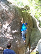 Rock Climbing Photo: I think I am still on route here...my hands are on...