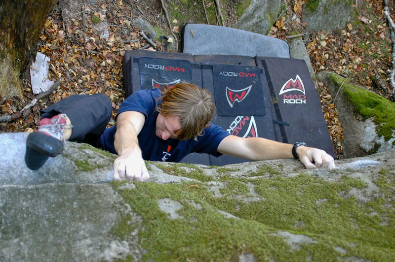 Rock Climbing Photo: Sam on Ipod Army