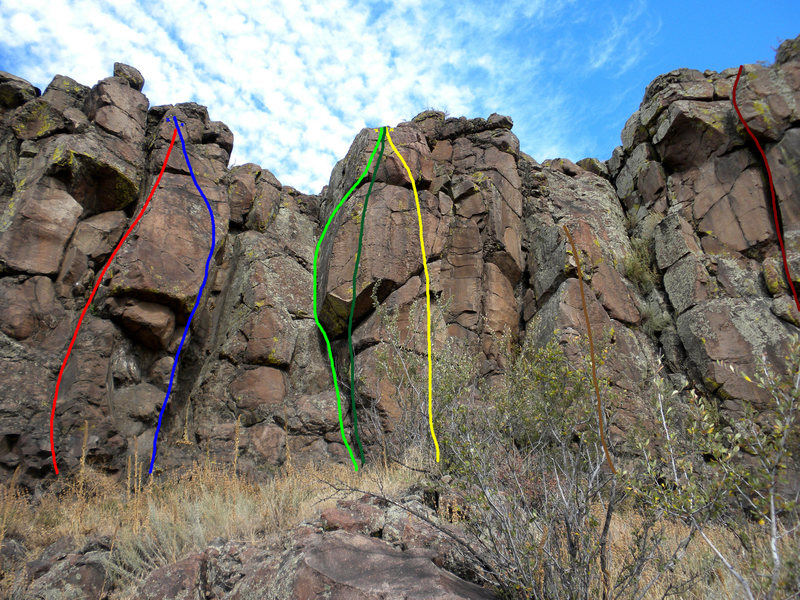 Rock Climbing Photo: Red - Little Green Apples. Blue - My Big Red Catch...