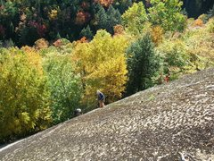 Rock Climbing Photo: The dirty uper pitches of the Carpet Slab area.Tha...