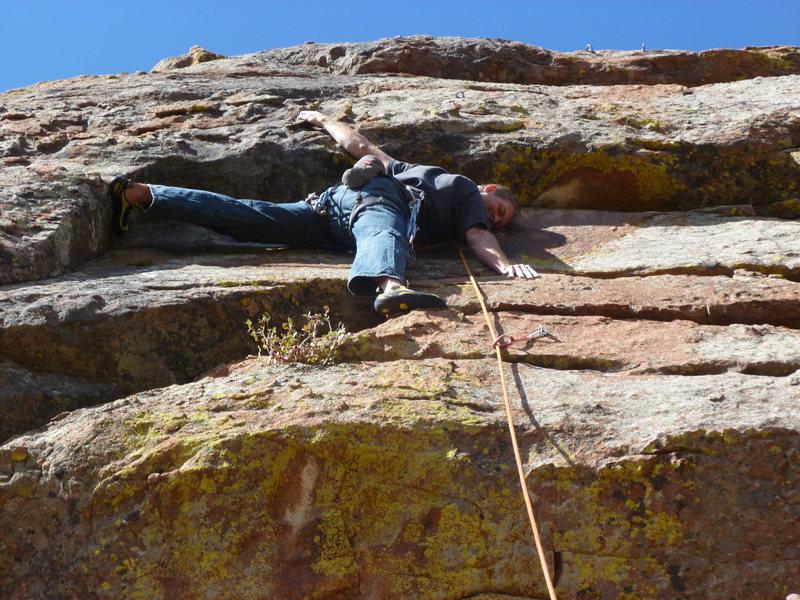 Rock Climbing Photo: Not a mandatory move.