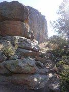 Rock Climbing Photo: This cairn marks the entry into the corridor where...