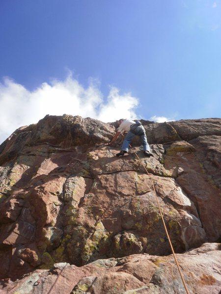 Rock Climbing Photo: Cranking up the steep part.