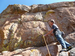Rock Climbing Photo: At the second bolt and the start of the real climb...