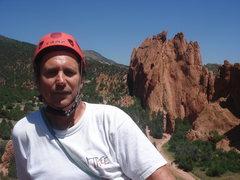 Rock Climbing Photo: top of Montezuma's Tower, Garden of the Gods (Nort...