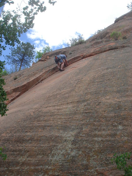 Rock Climbing Photo: Re-Thinking the Ethics (5.10a), Red Rock Canyon Op...