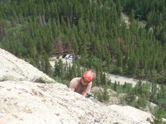 Rock Climbing Photo: leading on Monitor Rock, Independence Pass  photo ...