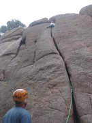 Rock Climbing Photo: leading Gobble Up (5.8), Turkey Perch