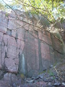 Rock Climbing Photo: Hole-In-The-Wall. The namesake route goes through ...