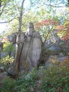 Rock Climbing Photo: This was found on the west side of the gully to ac...