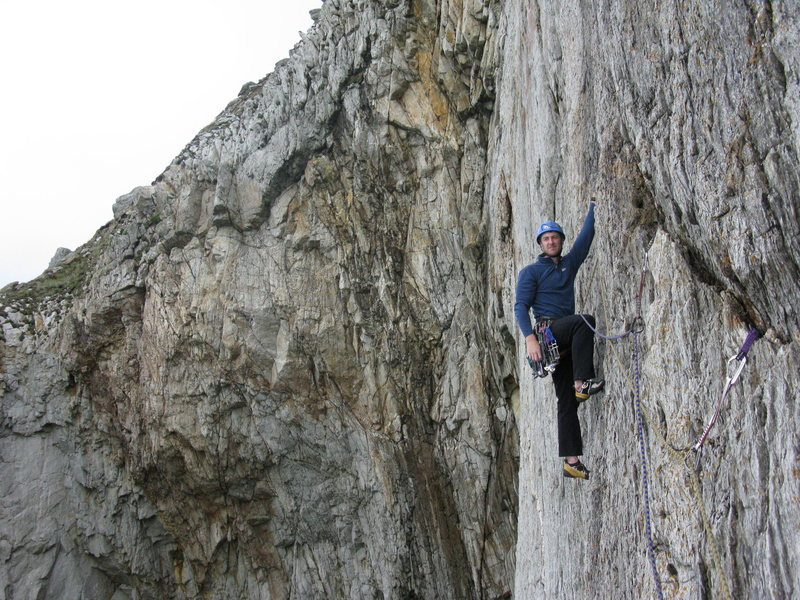 Rock Climbing Photo: Halfway across DOWH