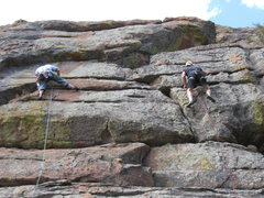 Rock Climbing Photo: Early crowd.