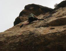 Rock Climbing Photo: The technical upper headwall.
