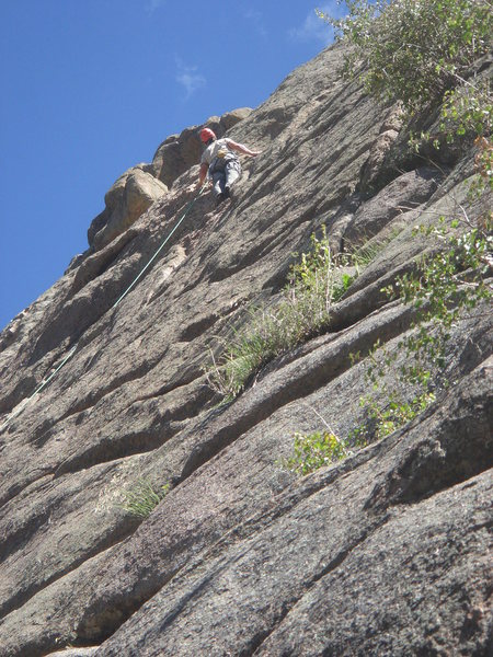 Rock Climbing Photo: leading the scaryass runouts of Zendance (5.7-), A...