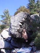 Rock Climbing Photo: Vinny crossing through.
