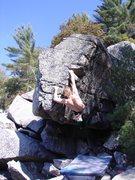 Rock Climbing Photo: Squeeze.