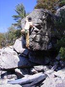 Rock Climbing Photo: The last move, desperate.