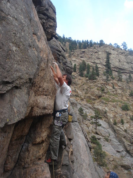 Rock Climbing Photo: starting up Deuces Wild (5.10a), High Wire Crag, C...