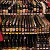 Whole lotta love - the beer selection in Finalborgo Italy.  Look at all those tasty Belgians!