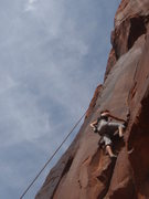 Rock Climbing Photo: Getting into the crack after the fun start