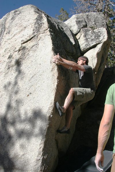 Rock Climbing Photo: Tim passing the crux.