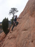 Rock Climbing Photo: Lee Rittenmeyer starting up Aborigine.