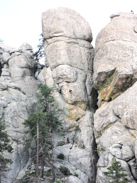 Rock Climbing Photo: Jimbo in the middle of the first hard section just...