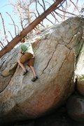 Rock Climbing Photo: Ryan cruising the upper slab on Somewhere In Time,...