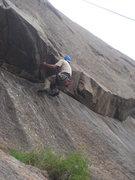 Rock Climbing Photo: Brett at the roof.