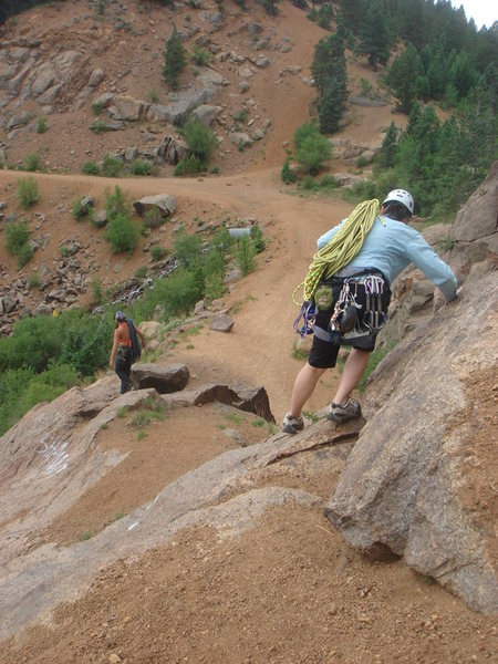 Rock Climbing Photo: The descent from Silver Cascade.