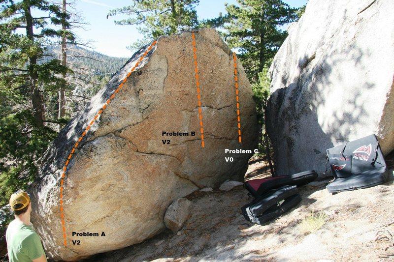 Flake Boulder Topo