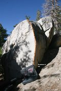 Rock Climbing Photo: Bowling Pin Boulder Topo