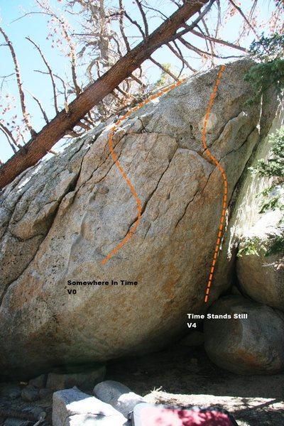 Rock Climbing Photo: Time Boulder Topo