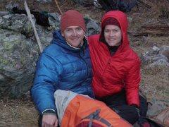 Rock Climbing Photo: Steve Rydalch and Sarah at base camp